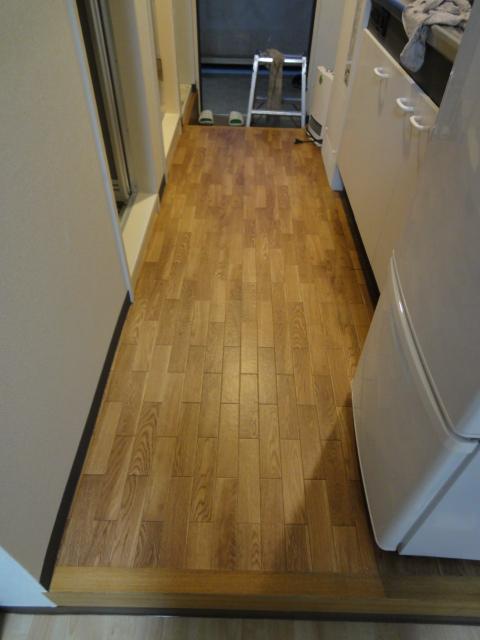 キッチン床(CF)張替え 施行済み