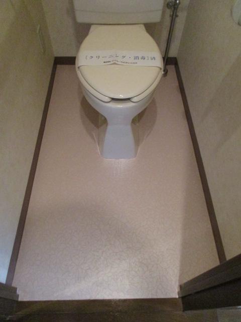 トイレ床 施工後